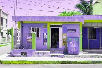 "¡Viva Mexico! Collection - ""La Esquina"" Purple Supermarket - Cancun-Philippe Hugonnard-Photographic Print"