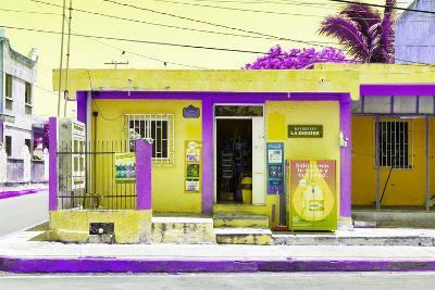 "¡Viva Mexico! Collection - ""La Esquina"" Yellow Supermarket - Cancun-Philippe Hugonnard-Photographic Print"