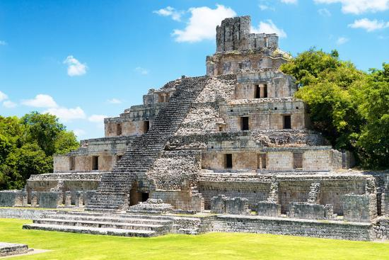 ¡Viva Mexico! Collection - Maya Archaeological Site IV - Edzna Campeche-Philippe Hugonnard-Photographic Print