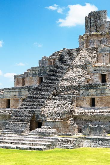 ?Viva Mexico! Collection - Maya Archaeological Site V - Edzna Campeche-Philippe Hugonnard-Photographic Print