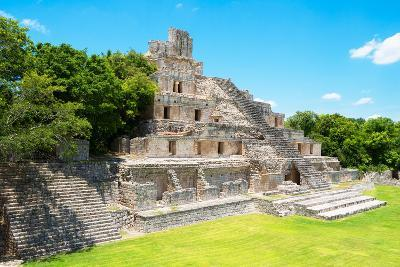 ?Viva Mexico! Collection - Maya Archaeological Site VI - Edzna Campeche-Philippe Hugonnard-Photographic Print