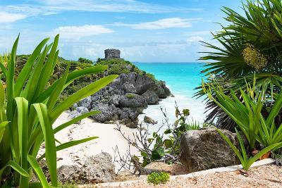 ?Viva Mexico! Collection - Mayan Archaeological Site with Iguana - Tulum-Philippe Hugonnard-Photographic Print