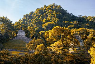 ?Viva Mexico! Collection - Mayan Ruins with Fall Colors at Sunsrise - Palenque-Philippe Hugonnard-Photographic Print