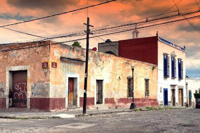 ?Viva Mexico! Collection - Mexican Street Scene at Sunset-Philippe Hugonnard-Photographic Print