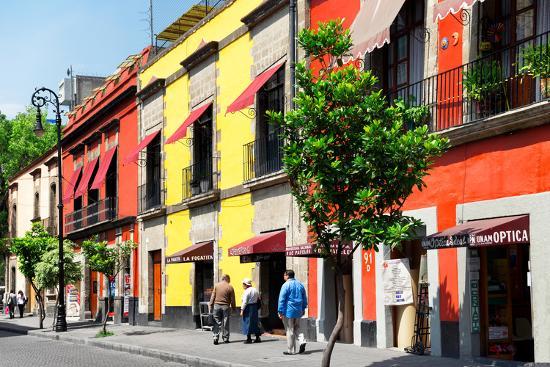 ¡Viva Mexico! Collection - Mexico City Colorful Facades-Philippe Hugonnard-Photographic Print