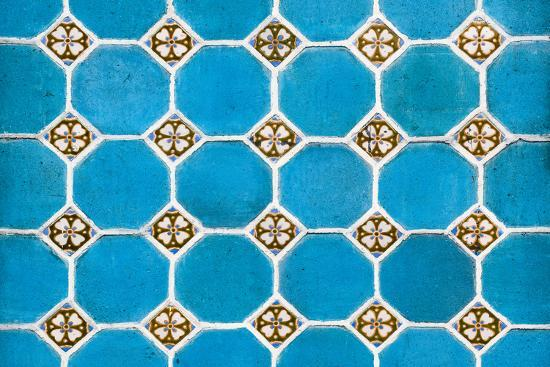 ¡Viva Mexico! Collection - Mosaics Blue Bricks-Philippe Hugonnard-Photographic Print