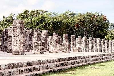 ?Viva Mexico! Collection - One Thousand Mayan Columns II - Chichen Itza-Philippe Hugonnard-Photographic Print