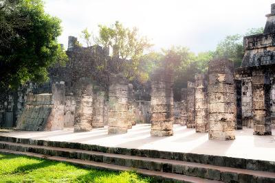 ¡Viva Mexico! Collection - One Thousand Mayan Columns III - Chichen Itza-Philippe Hugonnard-Photographic Print