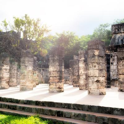 ¡Viva Mexico! Collection - One Thousand Mayan Columns V - Chichen Itza-Philippe Hugonnard-Photographic Print