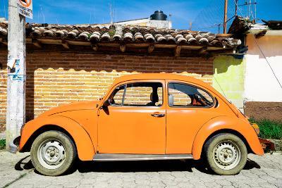 ¡Viva Mexico! Collection - Orange Volkswagen Beetle-Philippe Hugonnard-Photographic Print