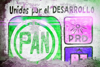 "?Viva Mexico! Collection - ""PAN"" Street Art IV-Philippe Hugonnard-Photographic Print"