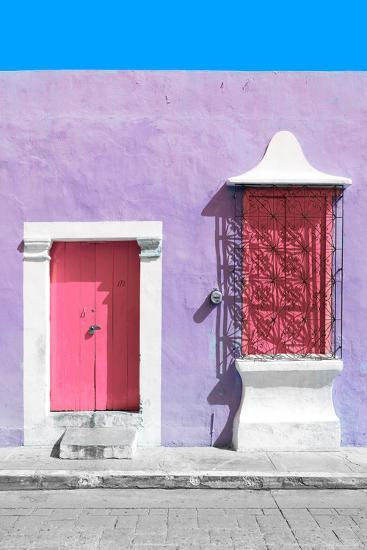 ?Viva Mexico! Collection - Pink and Mauve Facade - Campeche-Philippe Hugonnard-Photographic Print