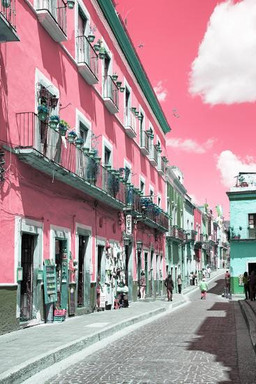 ?Viva Mexico! Collection - Pink Street Scene - Guanajuato-Philippe Hugonnard-Photographic Print