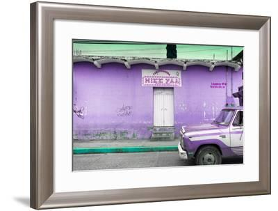 ¡Viva Mexico! Collection - Purple Truck-Philippe Hugonnard-Framed Photographic Print