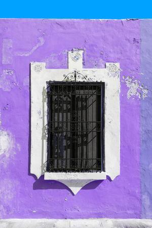 ?Viva Mexico! Collection - Purple Window - Campeche-Philippe Hugonnard-Photographic Print