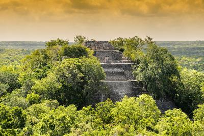 ¡Viva Mexico! Collection - Pyramid in Mayan City at Sunset of Calakmul-Philippe Hugonnard-Photographic Print