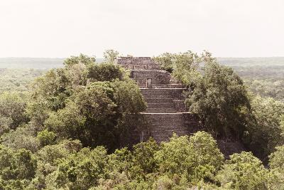 ¡Viva Mexico! Collection - Pyramid in Mayan City of Calakmul-Philippe Hugonnard-Photographic Print