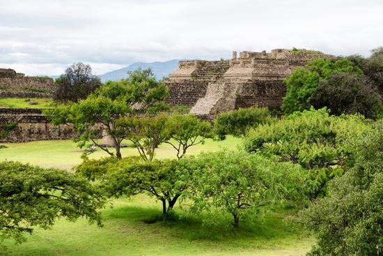 ¡Viva Mexico! Collection - Pyramid of Monte Alban-Philippe Hugonnard-Photographic Print
