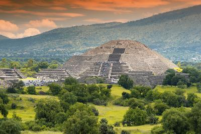 ?Viva Mexico! Collection - Pyramid of the Sun - Teotihuacan-Philippe Hugonnard-Photographic Print