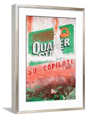 ¡Viva Mexico! Collection - Red Grunge Wall-Philippe Hugonnard-Framed Photographic Print