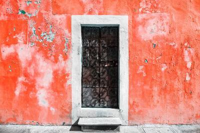 ?Viva Mexico! Collection - Red Wall of Silence-Philippe Hugonnard-Photographic Print