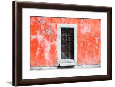 ¡Viva Mexico! Collection - Red Wall of Silence-Philippe Hugonnard-Framed Photographic Print