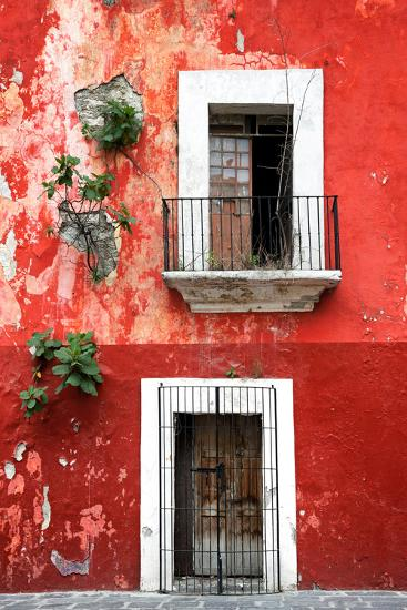 ?Viva Mexico! Collection - Red Wall-Philippe Hugonnard-Photographic Print