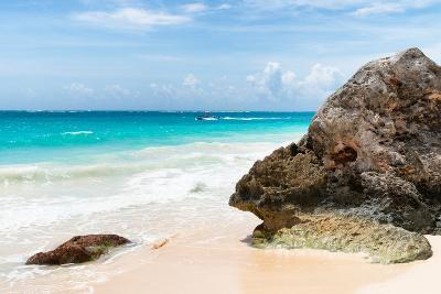 ?Viva Mexico! Collection - Rock on a Caribbean Beach-Philippe Hugonnard-Photographic Print