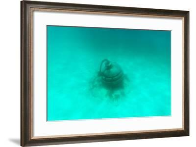 ¡Viva Mexico! Collection - Sculptures at bottom of sea in Cancun II-Philippe Hugonnard-Framed Photographic Print