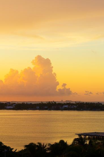 ?Viva Mexico! Collection - Sunset over Cancun II-Philippe Hugonnard-Photographic Print