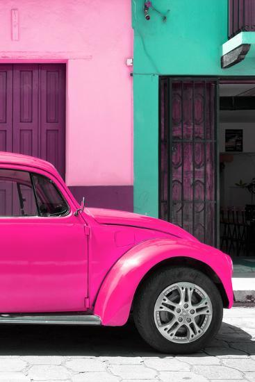 ?Viva Mexico! Collection - The Deep Pink Beetle-Philippe Hugonnard-Photographic Print