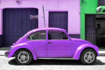 ¡Viva Mexico! Collection - The Purple Beetle Car-Philippe Hugonnard-Photographic Print
