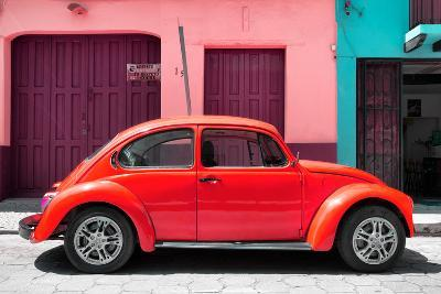 ?Viva Mexico! Collection - The Red Beetle Car-Philippe Hugonnard-Photographic Print