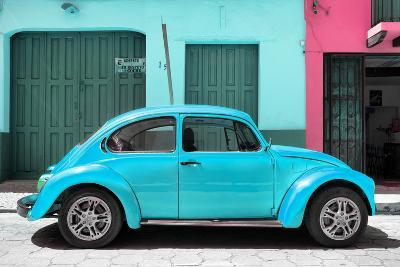 ?Viva Mexico! Collection - The Turquoise Beetle Car-Philippe Hugonnard-Photographic Print