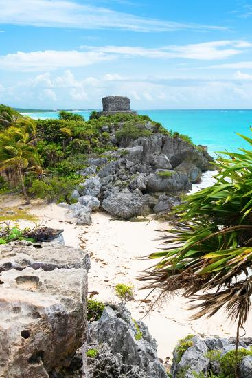 ¡Viva Mexico! Collection - Tulum Ruins along Caribbean Coastline II-Philippe Hugonnard-Photographic Print