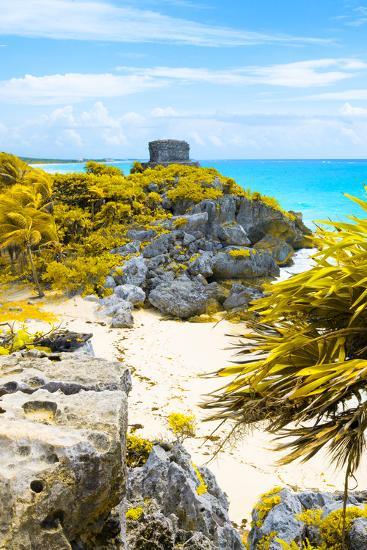 ?Viva Mexico! Collection - Tulum Ruins along Caribbean Coastline III-Philippe Hugonnard-Photographic Print