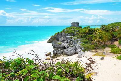 ?Viva Mexico! Collection - Tulum Ruins along Caribbean Coastline IV-Philippe Hugonnard-Photographic Print