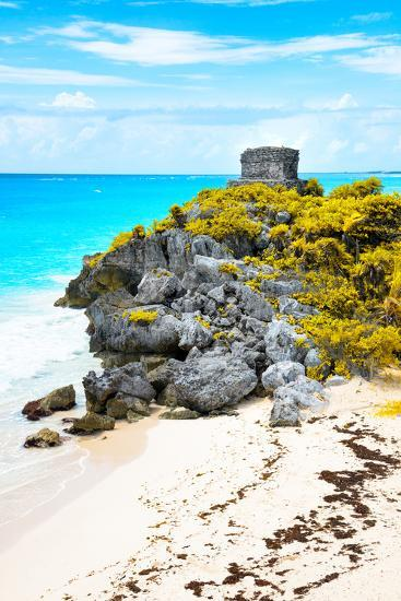 ?Viva Mexico! Collection - Tulum Ruins along Caribbean Coastline IX-Philippe Hugonnard-Photographic Print