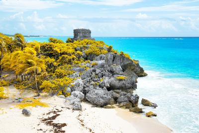 ?Viva Mexico! Collection - Tulum Ruins along Caribbean Coastline VII-Philippe Hugonnard-Photographic Print