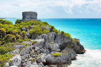 ?Viva Mexico! Collection - Tulum Ruins along Caribbean Coastline - Yucatan-Philippe Hugonnard-Photographic Print