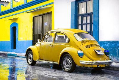 ?Viva Mexico! Collection - VW Beetle and Yellow Wall-Philippe Hugonnard-Photographic Print