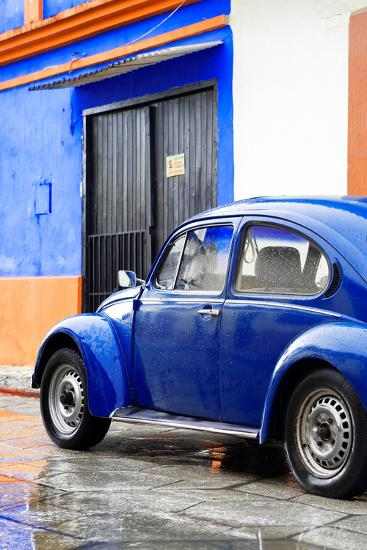 ¡Viva Mexico! Collection - VW Beetle Car and Royal Blue Wall Photographic  Print by Philippe Hugonnard | Art com