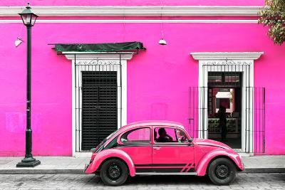 ?Viva Mexico! Collection - VW Beetle Car - Deep & Hot Pink-Philippe Hugonnard-Photographic Print