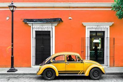 ¡Viva Mexico! Collection - VW Beetle Car - Orange & Gold-Philippe Hugonnard-Photographic Print