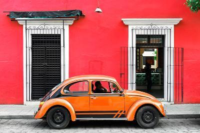 ¡Viva Mexico! Collection - VW Beetle - Red & Orange-Philippe Hugonnard-Photographic Print
