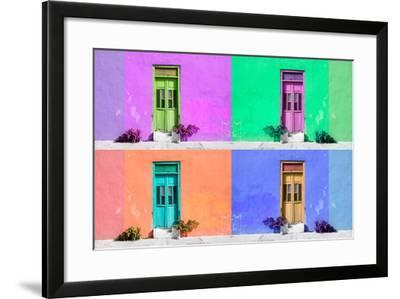 ¡Viva Mexico! Collection - Wall Color II - Campeche-Philippe Hugonnard-Framed Photographic Print