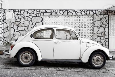 ¡Viva Mexico! Collection - White VW Beetle Car-Philippe Hugonnard-Photographic Print