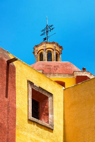 ¡Viva Mexico! Collection - Yellow Church - Guanajuato-Philippe Hugonnard-Photographic Print