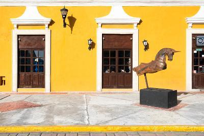 ?Viva Mexico! Collection - Yellow Facade - Campeche-Philippe Hugonnard-Photographic Print