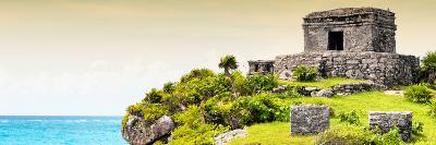 ¡Viva Mexico! Panoramic Collection - Ancient Mayan Fortress in Riviera Maya - Tulum III-Philippe Hugonnard-Photographic Print